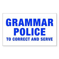 grammar-police-hel-blue Decal