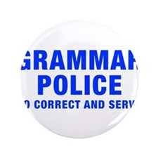 "grammar-police-hel-blue 3.5"" Button (100 pack)"
