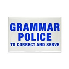 grammar-police-hel-blue Rectangle Magnet