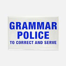 grammar-police-hel-blue Rectangle Magnet