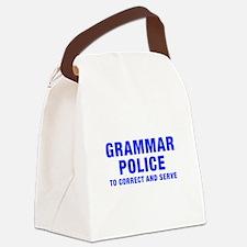 grammar-police-hel-blue Canvas Lunch Bag
