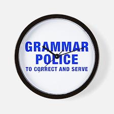 grammar-police-hel-blue Wall Clock