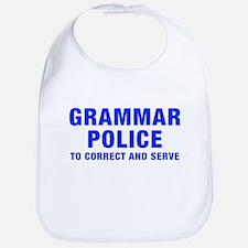 grammar-police-hel-blue Bib