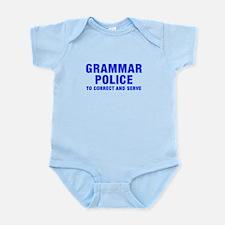 grammar-police-hel-blue Body Suit