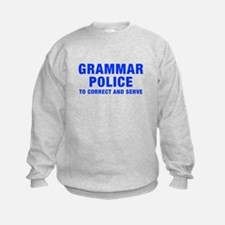 grammar-police-hel-blue Sweatshirt