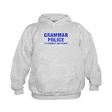 grammar-police-hel-blue Hoodie