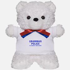 grammar-police-hel-blue Teddy Bear