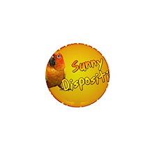 sunconure_sunnydisposition_ornament Mini Button