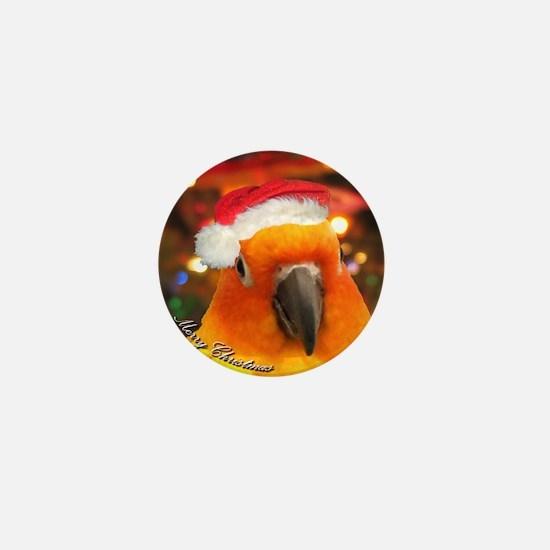 3-christmas_sunconure_ornament Mini Button