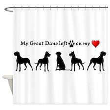 Great Dane left Footprints on my Heart Dog Humorou