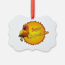 sunconure_sunnydisposition_blk Ornament