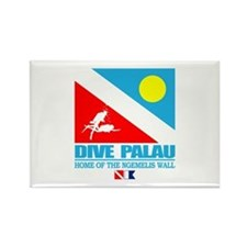 Dive Palau Rectangle Magnet