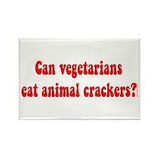 CAN VEGETARIANS EAT ANIMAL CR Rectangle Magnet