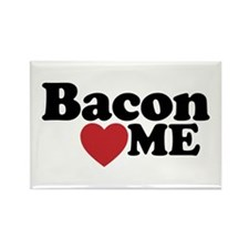 Bacon Loves ME Rectangle Magnet