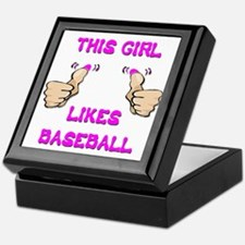 This Girl Likes Baseball Keepsake Box