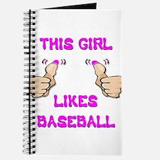 This Girl Likes Baseball Journal