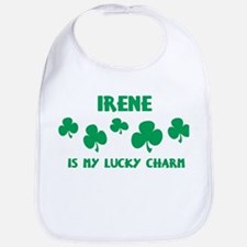 Irene is my lucky charm Bib