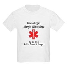 French/English Food Allergy T-Shirt