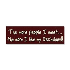 morepeople_dachshund Car Magnet 10 x 3