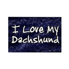 funklove_oval_dachshund Rectangle Magnet