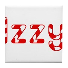 Izzy - Candy Cane Tile Coaster