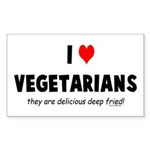 I LOVE [HEART] VEGETARIANS - Sticker (Rectangular