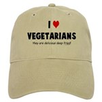 I LOVE [HEART] VEGETARIANS - Cap
