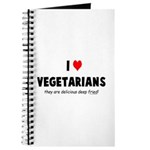 I LOVE [HEART] VEGETARIANS - Journal