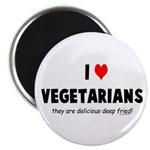 I LOVE [HEART] VEGETARIANS - 2.25