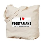 I LOVE [HEART] VEGETARIANS - Tote Bag