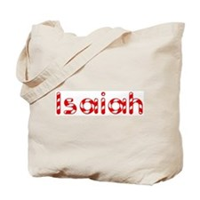 Isaiah - Candy Cane Tote Bag