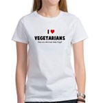 I LOVE [HEART] VEGETARIANS - Women's T-Shirt