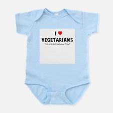 I LOVE [HEART] VEGETARIANS - Infant Bodysuit