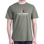 I LOVE [HEART] VEGETARIANS - Dark T-Shirt