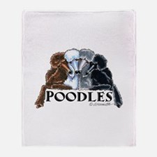Poodles Throw Blanket