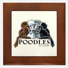 Poodles Framed Tile