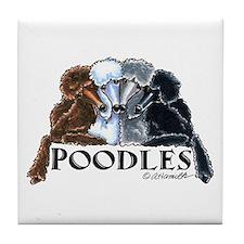 Poodles Tile Coaster