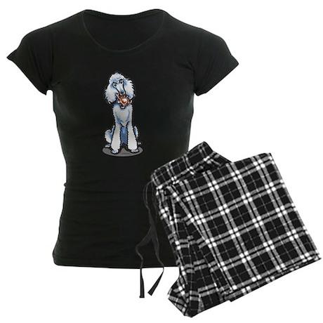 Teddy Bear Poodle Women's Dark Pajamas