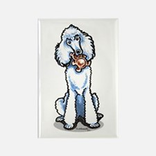 Teddy Bear Poodle Rectangle Magnet