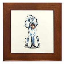Teddy Bear Poodle Framed Tile