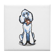 Teddy Bear Poodle Tile Coaster
