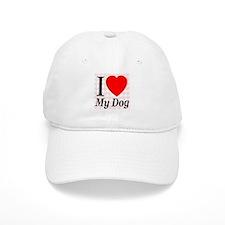 I Love My Dog Baseball Cap