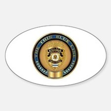 Police Coin... Oval Decal