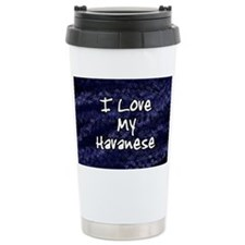 havanese_funklove_oval Thermos Mug