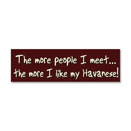 havanese_morepeople Car Magnet 10 x 3