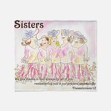 Sisters Throw Blanket