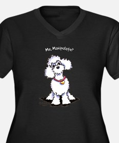 Toy Poodle Manipulate Women's Plus Size V-Neck Dar