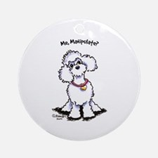 Toy Poodle Manipulate Ornament (Round)