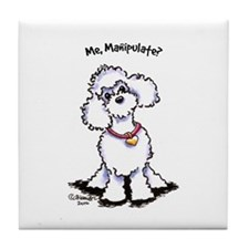 Toy Poodle Manipulate Tile Coaster