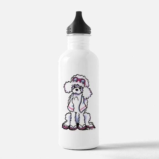 Poodle Beach Bum Water Bottle